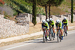 Sopela Women's Team in action during Stage 1 of the Madrid Challenge by La Vuelta, a team time trial running 12.6km from Boadilla del Monte to Boadilla del Monte, Spain. 15th September 2018.                   <br /> Picture: Unipublic/Vicent Bosch | Cyclefile<br /> <br /> <br /> All photos usage must carry mandatory copyright credit (&copy; Cyclefile | Unipublic/Vicent Bosch)