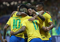 (180617) -- ROSTOV-ON-DON, June 17, 2018 -- Players of Brazil celebrate scoring during a group E match between Brazil and Switzerland at the 2018 FIFA World Cup WM Weltmeisterschaft Fussball in Rostov-on-Don, Russia, June 17, 2018. ) (SP)RUSSIA-ROSTOV-ON-DON-2018 WORLD CUP-GROUP E-BRAZIL VS SWITZERLAND LuxJinbo  <br /> Rostov on Don 17-06-2018 Football FIFA World Cup Russia  2018 <br /> Brazil - Switzerland / Brasile - Svizzera <br /> Foto Xinhua/Imago/Insidefoto
