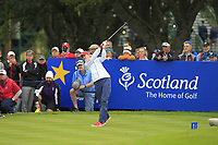 Nelly Korda of Team USA on the 11th tee during Day 1 Fourball at the Solheim Cup 2019, Gleneagles Golf CLub, Auchterarder, Perthshire, Scotland. 13/09/2019.<br />
