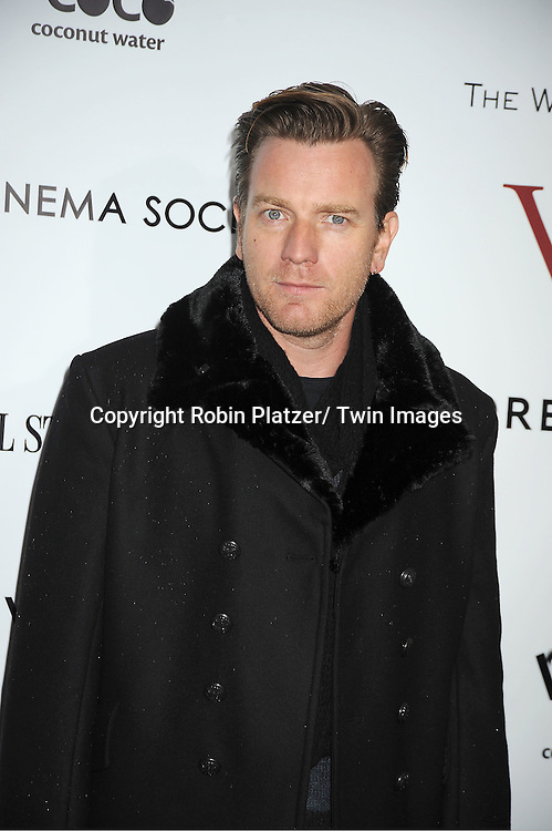 """Ewan McGregor arrives for the New York Premiere of """"W.E."""" on ..January 23, 2012 at The Ziegfeld Theatre in New York City. Madonna directed the movie. The sponsors of the premiere are The Weinstein Company, The Cinema Society and Forevermark."""