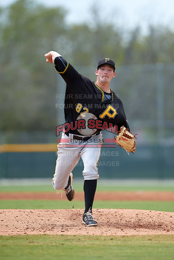 Pittsburgh Pirates Scooter Hightower (82) during a minor league Spring Training game against the Toronto Blue Jays on March 24, 2016 at Pirate City in Bradenton, Florida.  (Mike Janes/Four Seam Images)