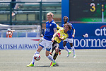 Leicester City (in blue) vs Wellington Phoenix (in yellow), during their Main Tournament match, part of the HKFC Citi Soccer Sevens 2017 on 27 May 2017 at the Hong Kong Football Club, Hong Kong, China. Photo by Chris Wong / Power Sport Images