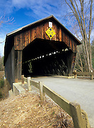 Martins Mill or Martinsville Covered Bridge in Hartland, Vermont USA on Martinsville Road which crosses over Lulls Brook.