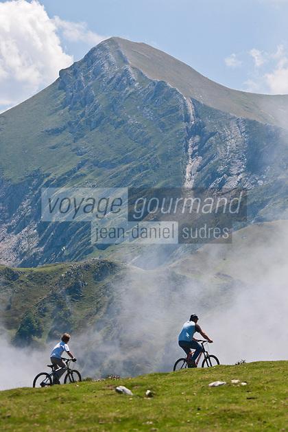 Europe/France/Aquitaine/64/Pyrénées-Atlantiques/Pays-Basque/Iraty: Randonnée à VTT devant le Pic d' Orhy 2017 M  [Autorisation : 11003] [Autorisation : 11004]