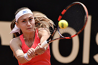 BOGOTA -COLOMBIA. 13-04-2017. Alesksandra Krunic (SRB) durante juego contra Lara Arruabarrena (ESP) de segunda ronda del Claro Open Colsanitas WTA 2017 jugado en el Club Los Lagartos en Bogota. /  Alesksandra Krunic (SRB) during match against Lara Arruabarrena (ESP) for the second round round of Claro Open Colsanitas WTA 2017 played at Club Los Lagartos in Bogota city. Photo: VizzorImage/ Gabriel Aponte / Staff