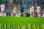 Kerry in Action Against  Tyrone in the All Ireland Semi Final at Croke Park on Sunday.