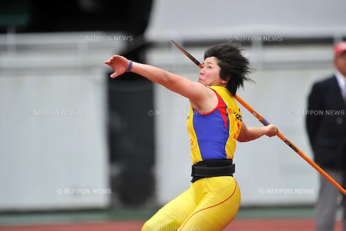 Yuki Ebihara (JPN),.MAY 3, 2012 - Athletics : The 28th Shizuoka International Athletics 2012 Japan Grand Prix Series Circuit Athletics Rd.4, during Women's Javelin Throw at Ecppa Stadium, Sizuoka, Japan. (Photo by Jun Tsukida/AFLO SPORT) [0003]