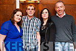 Michelle Griffin, Glencar, who celebrated her 21st Birthday at the Denny Lane restaurant, Tralee on Saturday night last, pictured with Adrian Buckley, Marie Griffin and Chris McCarthy.