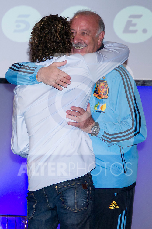01.06.2012. Telecinco presents its official schedule for the transmission of Eurocup 2012 to the Ciudad del Futbol of Las Rozas, Madrid. In the image David Bisbal and Vicente del Bosque   (Alterphotos/Marta Gonzalez)