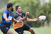 Taniela Tuivai passes wide to his outside backs. Counties Manukau Premier Counties Power Club Rugby Round 2, Game of the Week, between Te Kauwhata and Onewhero, played at Te Kauwhata on Saturday March 17th 2018. <br /> Photo by Richard Spranger.<br /> <br /> Onewhero won the game 43 - 10 after leading 21 - 10 at halftime.<br /> Te Kauwhata EnviroWaste  10 - Lani Latu try,  Caleb Brown 1 conversion, Caleb Brown 1 penalty.<br /> Onewhero 43 - Jackson Orr 2, Ilaisa Koaneti 2, Vaughan Holdt, Zac Wootten, Rhain Strang tries, Vaughan Holdt 4 conversions.