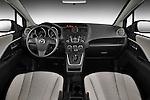 Straight dashboard view of a 2012 Mazda Mazda5.