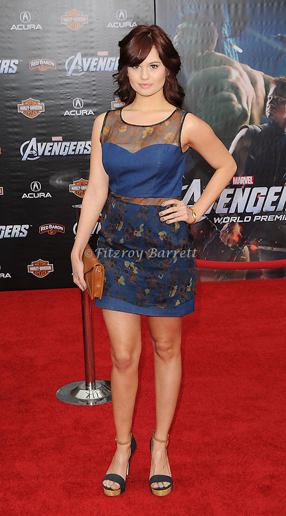 Debby Ryan at the premiere of Marvel's The Avengers, held at El Capitan Theatre in Hollywood,  CA. April 11, 2012