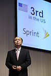 October 15, 2012, Tokyo, Japan - Softbank Corp. President Masayoshi Son speaks during a media conference in Tokyo on Monday, October 15, 2012. Son announced that Japanese mobile Internet company Softbank has reached a deal to acquire Sprint Nextel Corp., the third-largest mobile carrier in the U.S. for $20 billion. The deal enables Softbank to establish an operating base as one of the largest mobile Internet companies in the world, with combined mobile telecom service revenues that will rank it third amongst global operators. Softbank aims to enhance Sprint's competitiveness in the U.S. and the deal includes $8 billion of new capital for the U.S. carrier. The companies expect the closing of the transaction to occur in mid-2013 pending regulatory approvals. .(Photo by Yusuke Nakanishi/AFLO)