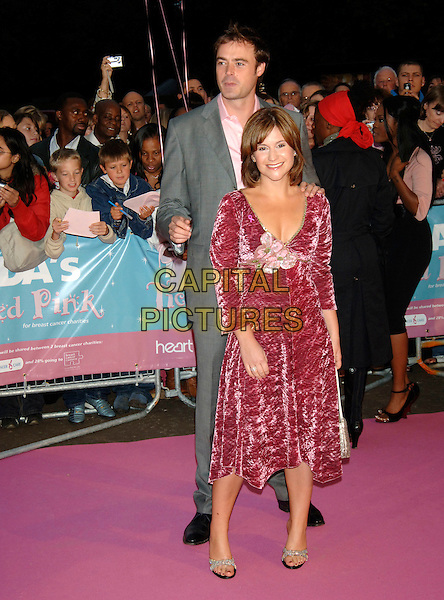 "TOBY ANSTIS & HARRIET SCOTT.Arrivals at ASDA's ""Tickled Pink"" charity concert .The Royal Albert Hall.London, 18th September 2005.REF: PL.full length.www.capitalpictures.com.sales@capitalpictures.com.©Capital Pictures"