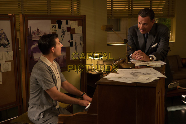 Jason Schwartzman, Tom Hanks<br /> in Saving Mr. Banks (2013) <br /> *Filmstill - Editorial Use Only*<br /> CAP/NFS<br /> Image supplied by Capital Pictures