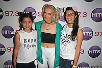 FORT LAUDERDALE , FL - AUGUST 09: Bebe Rexha poses with fans during Hits 97.3 Sessions at Revolution on August 9, 2016 in Fort Lauderdale, Florida. CrediMPI04 / MediaPunch
