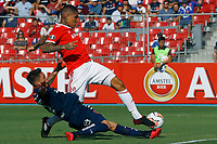 4th February 2020; National Stadium of Chile, Santiago, Chile; Libertadores Cup, Universidade de Chile versus Internacional; Diego Carrasco of Universidad de Chile and Paolo Guerrero of Internacional