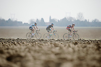 111th Paris-Roubaix 2013..leading trio: Michael Schär (CHE), Mathew Hayman (AUS) & Gert Steegmans (BEL)