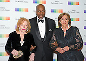 Buffy Cafritz, Vernon Jordan, and Ann Jordan arrive for the formal Artist's Dinner honoring the recipients of the 38th Annual Kennedy Center Honors hosted by United States Secretary of State John F. Kerry at the U.S. Department of State in Washington, D.C. on Saturday, December 5, 2015. The 2015 honorees are: singer-songwriter Carole King, filmmaker George Lucas, actress and singer Rita Moreno, conductor Seiji Ozawa, and actress and Broadway star Cicely Tyson.<br /> Credit: Ron Sachs / Pool via CNP