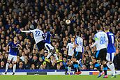 28th September 2017, Goodison Park, Liverpool, England; UEFA Europa League group stage, Everton versus Apollon Limassol; Valentin Roberge of Apollon Limassol heads on goal