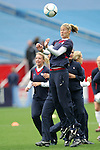 14 April 2007: United States midfielder Marian Dalmy, pregame. The United States Women's National Team defeated the Women's National Team of Mexico 5-0 at Gillette Stadium in Foxboro, Massachusetts in an international friendly game.