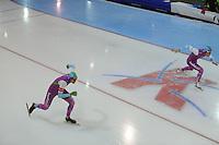 SCHAATSEN: GRONINGEN: Sportcentrum Kardinge, 17-01-2015, KPN NK Sprint, Thomas Krol, Kai Verbij, ©foto Martin de Jong