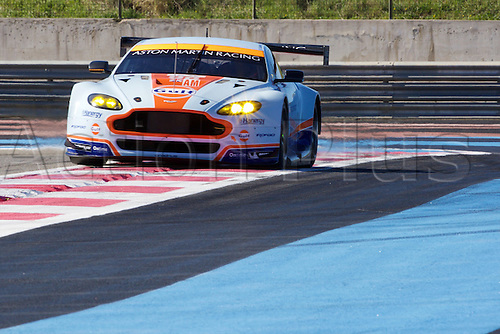 28.03.2015.  Le Castellet, France. World Endurance Championship Prologue Day 2. Aston Martin Racing Aston Martin Vantage V8 driven by Roald Goethe.