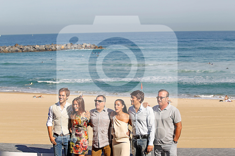 The producer Antonio Perez (r), the actors Daniel Holguin (2r), Inma Cuesta (c-r), Maria Leon (2-l) and Marc Clotet (l) and the director Benito Zambrano (c-l) during the 59th San Sebastian Donostia International Film Festival - Zinemaldia.September 21,2011.(ALTERPHOTOS/ALFAQUI/Acero)
