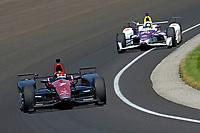 Verizon IndyCar Series<br /> Indianapolis 500 Carb Day<br /> Indianapolis Motor Speedway, Indianapolis, IN USA<br /> Friday 26 May 2017<br /> Mikhail Aleshin, Schmidt Peterson Motorsports Honda, Zach Veach, A.J. Foyt Enterprises Chevrolet<br /> World Copyright: F. Peirce Williams