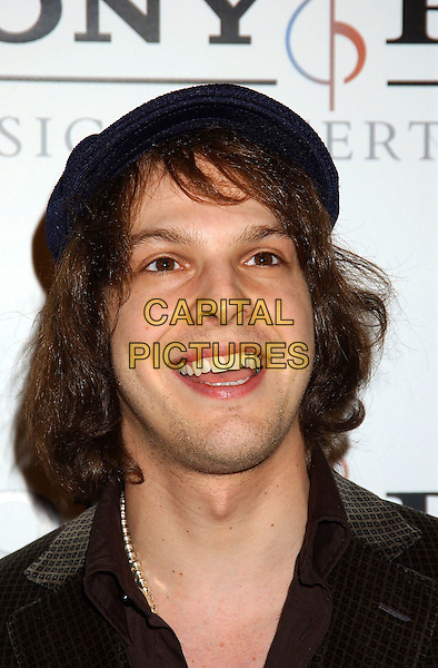 GAVIN DeGRAW.Sony BMG Grammy Party 2005 held at the Roosevelt Hotel, Los Angeles, California.February 13th, 2005.Photo Credit: Laura Farr/AdMedia.headshot portrait hat.www.capitalpictures.com.sales@capitalpictures.com.© Capital Pictures.