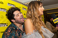 """AUSTIN, TX- MARCH 8: Harvey Guillen, left, and Natasia Demetriou attend the SXSW world premiere of FX's """"What We Do in the Shadows"""" at the Paramount Theater on March 8, 2019 in Austin, Texas. (Photo by Stephen Spillman/FX/PictureGroup)"""