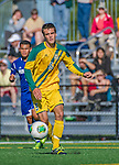 18 September 2013: University of Vermont Catamount Midfielder Charlie DeFeo, a Sophomore from Newfields, NH, in action against the Hofstra University Pride at Virtue Field in Burlington, Vermont. The Catamounts defeated the visiting Pride 2-1. Mandatory Credit: Ed Wolfstein Photo *** RAW (NEF) Image File Available ***