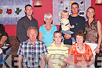 PARTY: Paudie Flynn of the Maharees celebrated his 18th birthday at Kirbys Brogue Inn, Tralee, on Friday night last with family and friends. Front l-r: Paddy Flynn, Paudie Flynn (birthday boy) and Breda Flynn. Back l-r: Niall Flynn, Catherine Linseil, Thomas and Tommy Flynn and Grainne Rice..