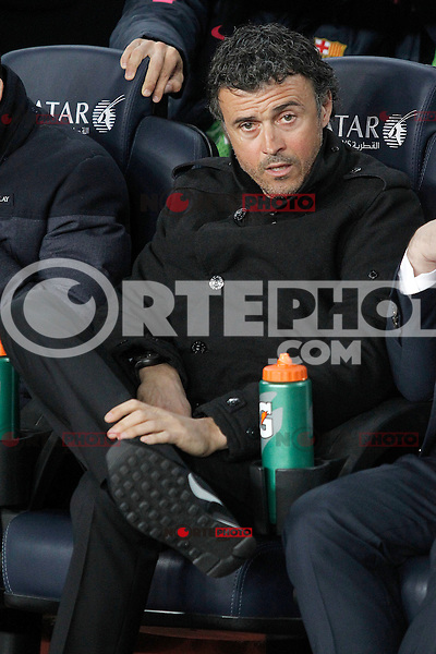 FC Barcelona's coach Luis Enrique Martinez during La Liga match.March 22,2015. (ALTERPHOTOS/Acero) /NORTEphoto.com