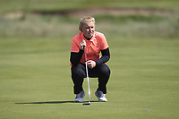 Caitlin Whitehead (ENG) on the 1st green during Round 3 of the Irish Women's Open Stroke Play Championship 2018 on Saturday 13th May 2018.<br /> Picture:  Thos Caffrey / Golffile<br /> <br /> All photo usage must carry mandatory copyright credit (&copy; Golffile | Thos Caffrey)