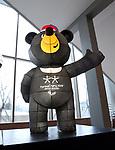 Pyeongchang, Korea, 7march2018- Bandabi The Paralympic mascot. Photo Scott Grant