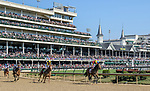 November 3, 2018: Shamrock Rose #14, ridden by Irad Ortiz, Jr., wins the Breeders' Cup Filly & Mare Sprint on Breeders' Cup World Championship Saturday at Churchill Downs on November 3, 2018 in Louisville, Kentucky. Mary Meek/Eclipse Sportswire/CSM