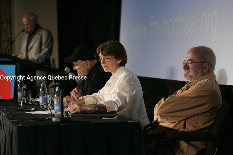 Montreal world film Festival Press conference with serge Losique (L), Danielle cauchard  (M)  on August 11  2009 <br /> <br /> file photo : Agence Quebec Presse
