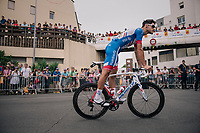 Jacopo Guarnieri (ITA/Groupama-FDJ) on his way to sign-on<br /> <br /> Stage 21: Houilles > Paris / Champs-Élysées (115km)<br /> <br /> 105th Tour de France 2018<br /> ©kramon
