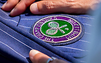 London, England, 3 th. July, 2018, Tennis,  Wimbledon, Wimbledon logo on jacket<br /> Photo: Henk Koster/tennisimages.com