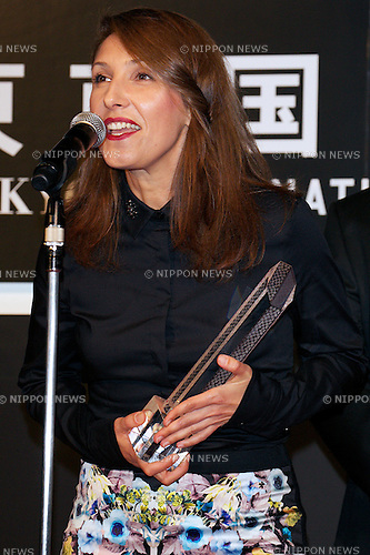 "Margita Gosheva, October 31 2014, Tokyo, Japan : Actress of the movie ""The Lesson"" Margita Gosheva receives the Special Jury Prize, Award for Best Contribution during the Closing Ceremony of The 27th Tokyo International Film Festival at TOHO CINEMAS in Roppongi Hills on October 31, 2014, Tokyo, Japan. The 27th Tokyo International Film Festival is one of the biggest film festivals in Asia and runs from October 23 to 31. (Photo by Rodrigo Reyes Marin/AFLO)"