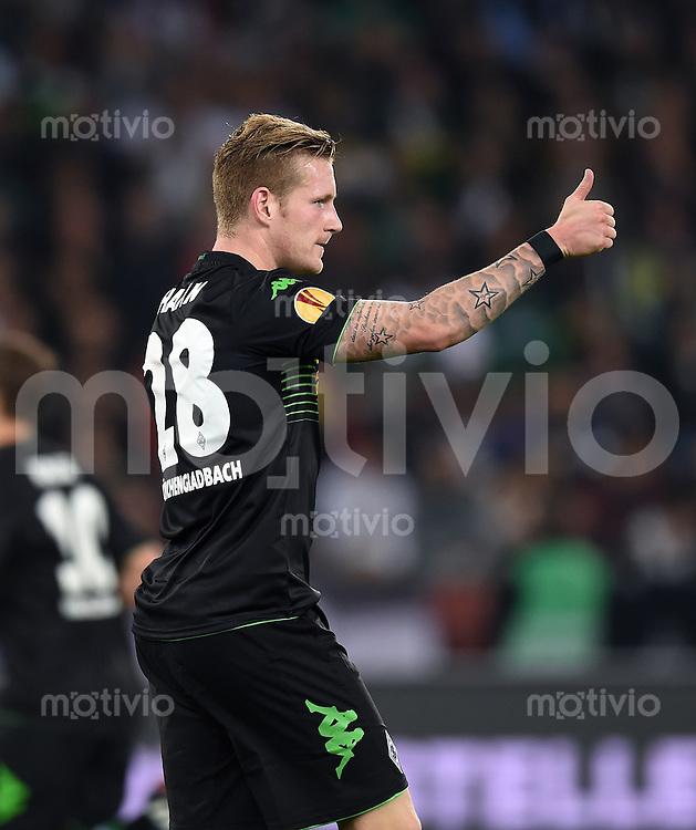FUSSBALL   INTERNATIONAL   UEFA EUROPA LEAGUE   SAISON 2014/2015 FC Zuerich - VfL Borussia Moenchengladbach    02.10.2014 Daumen hoch; Andre Hahn (Borussia Moenchengladbach)