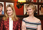 Laura Linney and Cynthia Nixon attends the portrait unveilings of Laura Linney and Cynthia Nixon starring on Broadway in the Manhattan Theatre Club's THE LITTLE FOXES, at Sardi's on June 29, 2017 in New York City.