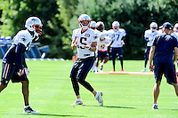 Wednesday, August 17, 2016: New England Patriots wide receiver Chris Hogan (15) makes a catch a joint training camp session between the Chicago Bears and the New England Patriots held at Gillette Stadium in Foxborough Massachusetts. Eric Canha/CSM