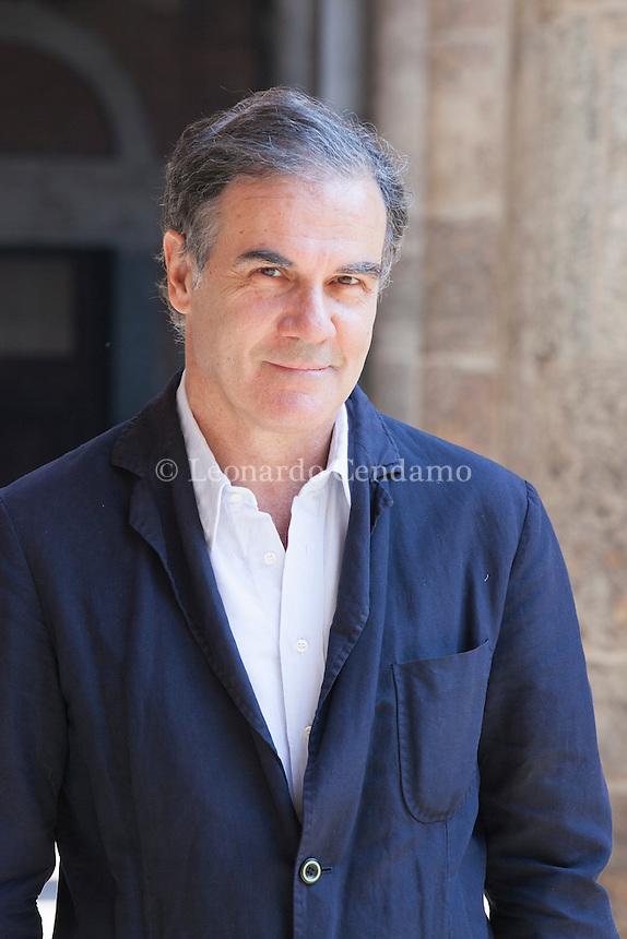 Edoardo Albinati, italian writer, pubblishing for mondadori. Milano, maggio 2012. © Leonardo Cendamo