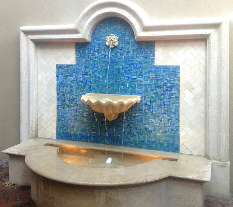 This custom fountain designed by <br />