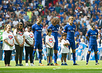 Tribute to Greenfield Tower Before  the The FA Community Shield Final match between Arsenal and Chelsea at Wembley Stadium, London, England on 6 August 2017. Photo by Andrew Aleksiejczuk / PRiME Media Images.