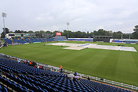 The covers are on the outfield as heavy rain falls ahead of Glamorgan vs Essex Eagles, NatWest T20 Blast Cricket at the SSE SWALEC Stadium on 23rd July 2017