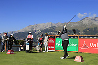 Callum Shinkwin (ENG) tees off the 7th tee during Saturday's Round 3 of the 2018 Omega European Masters, held at the Golf Club Crans-Sur-Sierre, Crans Montana, Switzerland. 8th September 2018.<br /> Picture: Eoin Clarke | Golffile<br /> <br /> <br /> All photos usage must carry mandatory copyright credit (&copy; Golffile | Eoin Clarke)