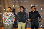 51 Festival Internacional de Cinema Fantastic de Catalunya-Sitges 2018.<br /> Blood Red Carpet.<br /> Brays Efe, Marti&ntilde;o Rivas &amp; Sergi Cervera.